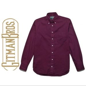 Gitman Vintage Bros. Burgundy Long Sleeve Shirt
